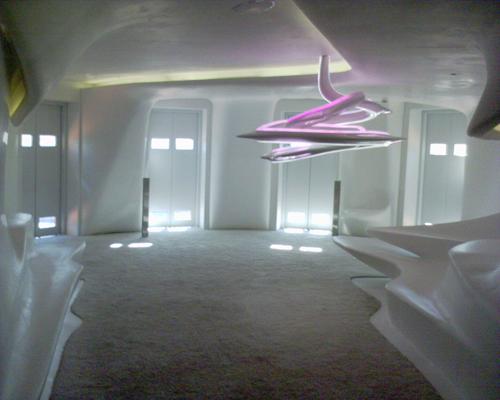 Korridor av Zaha hadid på Hotel Puerta América i Madrid