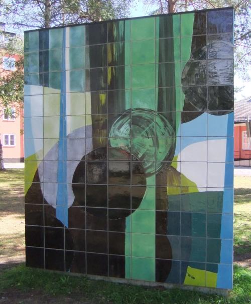 Konstverk av Astrid Sylvan i Umeå skulpturpark