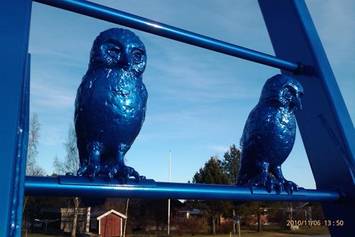 Blå fåglar