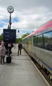 Lasse på Västerviks station