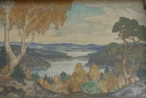 Vedasjön, målning på centralstationen i Stockholm